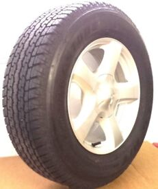 GENUINE ISUZU J 17X7J ALLOY WHEEL WITH BRIDGESTONE DUELER H/T 840 TYRE 255/65R17