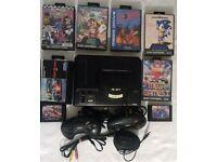 Sega Mega Drive Console + 7 Games