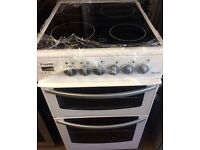 NEWHOME ELECTRIC COOKER 50cm WIDE DOUBLE OVEN WITH GRILL FREE DELIVERY AND WARRANTY