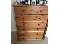 Chest of drawers and 2 x matchinh bedside cabinets