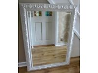Large Ornate Shabby Chic Look Mirror.