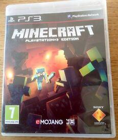 PS3 Minecraft game.