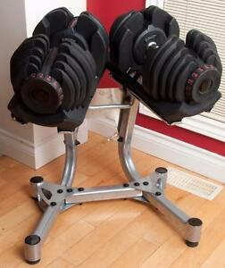 NEW Weight select Dumbbells Each dumbbell adjusts from 10 to 90 lbs.(Kelowna location)