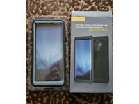 Singdo Case Compatible with Samsung Galaxy Note 9 Case, Full-body Rugged Clear Bumper Case