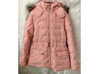 Dusky Pink Zara Coat. Age 13/14years. 164cm