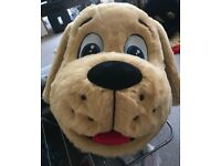 Professional Playful Beige Puppy Character Costume, Excellent Condition