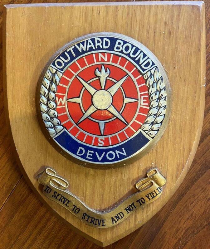 Old University College School Outward Bound Devon Academic Crest Shield Plaque