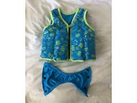 SPEEDO Sea Squad float vest/safety vest 2-3 years blue and green