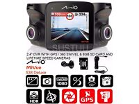 Mio MiVue™ 538 Deluxe Accident, Dash Cam, GPS Tracking, Speed Camera Alerts or Swap for Tyres 16 ""