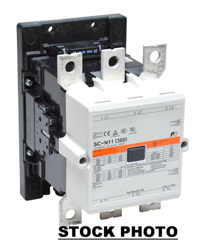 FUJI ELECTRIC  3NC4H0Q22  SC-N11 CONTACTOR 285A, 380-450VAC COIL 148MM