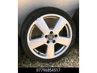 18 Inch Genuine Audi Alloy Wheels & Tyres - a3 a4 golf mk5 -