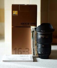 Nikon Nikkor AF-S 16-35mm F/4G ED VR lens for sale