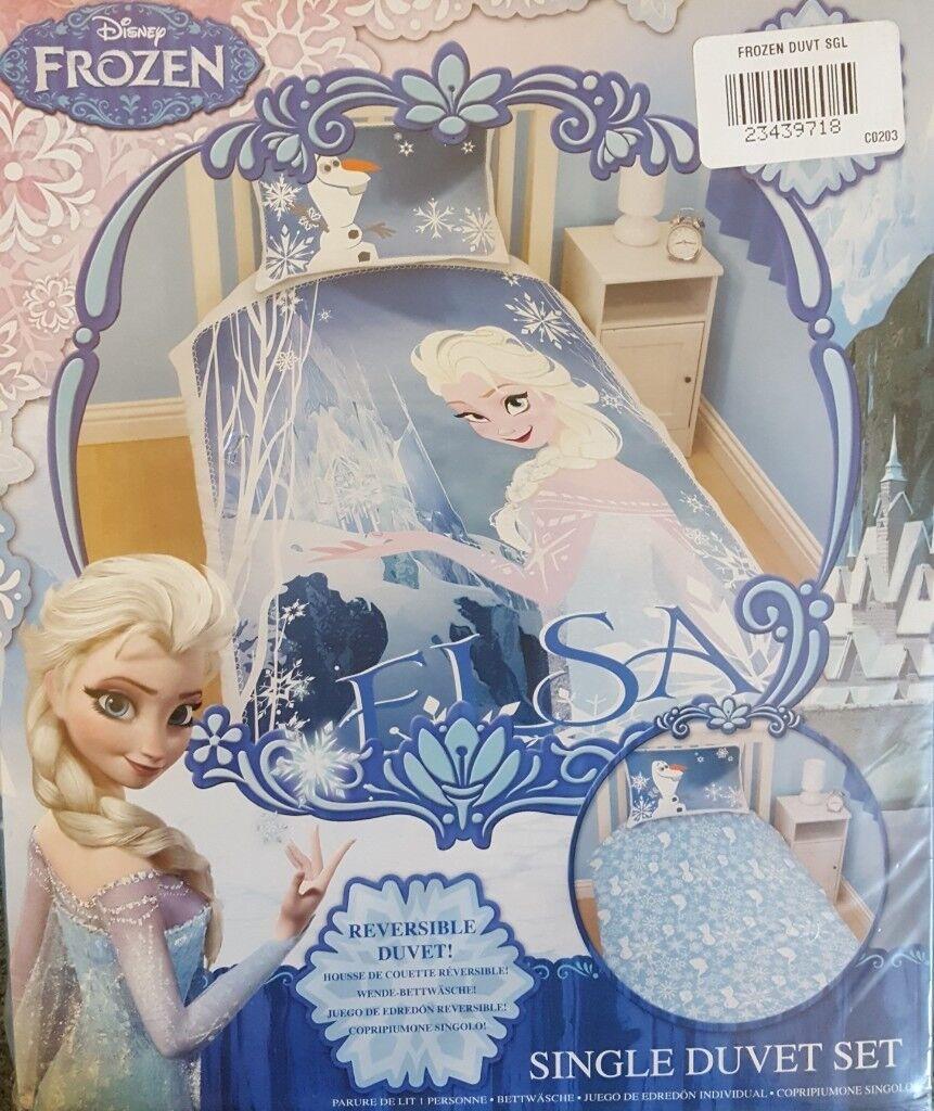 Brand New In Pack Disney Frozen Elsa Single Duvet