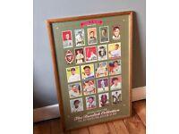 RARE Vintage Legends Of Baseball 1909-1953 Rare Cards Print Metropolitan Museum of Art Wood Framed