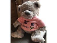 Happy 30th Teddy Bear - Good Condition