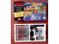 SNES Street Fighter 2 Turbo Console Pack Bundle Super Nintendo MINT Complete No Yellowing