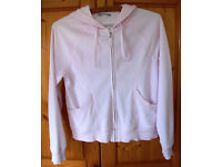 M&S Baby Pink Hooded Velour Top. Size 12 approx. £2 ovno.