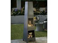 SQUARE Gardenline Steel Chimnea/Patio Heater/Fire Pit
