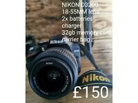NIKON D3200 (physical selling only no bank transfer or posting)