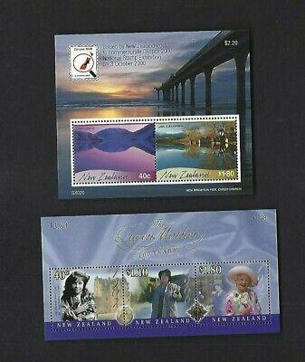 New Zealand sc#1662a, 1665a (2000) Souvenir Sheets MNH