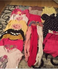Girl clothes ( 1-2 & 2-3) years.. 44 pieces