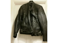 Belstaff leather black motorcycle jacket