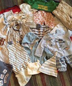 Newborn baby boy clothes bundle