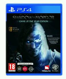 Shadow of mordor GOTY PS4