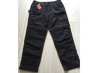 Scruffs Mens Premium work trousers, Waist 38, Brand New, RRP £75 (Builder, Electrician,Trade)