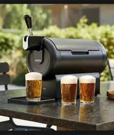 Beerwulf The SUB Compact Black UK | Draught Beer Tap for Home by Krups | 2L
