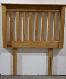 Ex demo. Unused. 3ft single pine wood wooden headboard bed head end