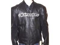 Leather motorbike jacket new with tags