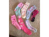 7 x fluffy bed socks. Size UK 3-7. £5
