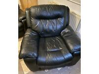 Black Electric Leather Recliner Chair