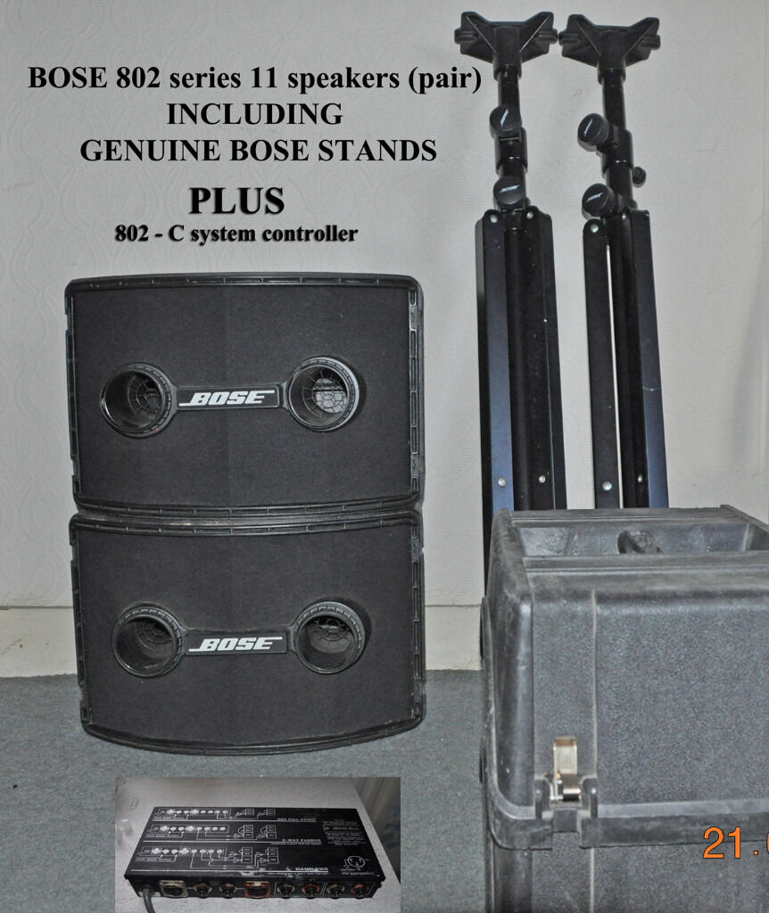bose 802 speakers. bose 802 series ii speakers (pair) with 802-c controller, stands
