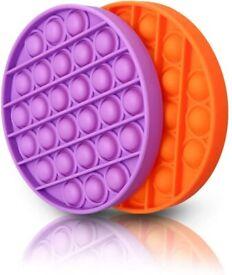 NEW LIUMY Push Bubble Sensory Fidget Toy, 2 Pack Silicone Squeeze Sensory Toys Reducing Fidgeting