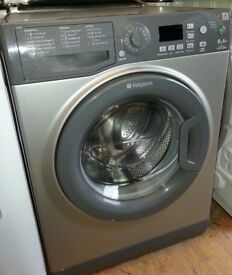 Silver Hotpoint 6kg load 1100 spin washing machine A+ energy rated