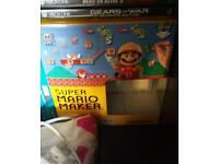 Mario Maker for Wii U with art book and 8-bit Mario Amiibo