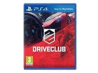 DRIVECLUB PS4 GAME BRAND NEW & SEALED SWAP