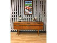 Vintage Retro Teak Austinsuite Sideboard Drawers