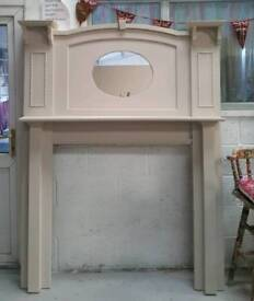 Large edwardian fire surround 6ft tall can deliver 07808222995