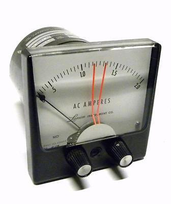 Larson Instrument Company 3.5wv Ac Amperes Meter 115 Volts 0-2 Amperes Range