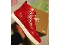 Louboutin leather studded HiTops BRAND NEW men's Boys