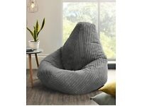 Jumbo Cord Beanbag Chair, Large Bean Bags in Plush