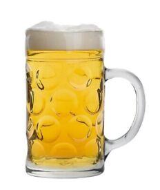 2 pint german stein glasses