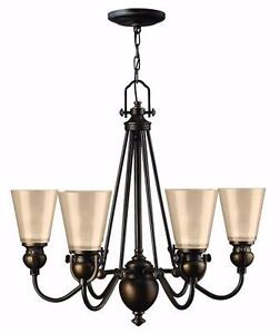 Mayflower 6 Light Shaded Chandelier by Hinkley Lighting - Brand New