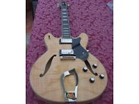 HAGSTROM VIKING DELUXE - ACE, EASY PLAYING, SEMI HOLLOW WITH ORIGINAL HARDCASE