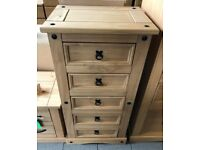 NEW. Pine Chest of drawers