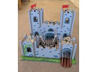 FREE Chad Valley Wood toy castle/fort