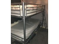 Silver Bunk Beds